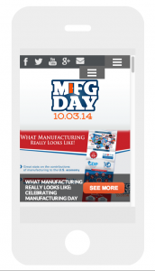 MfgDay.com on Smartphone