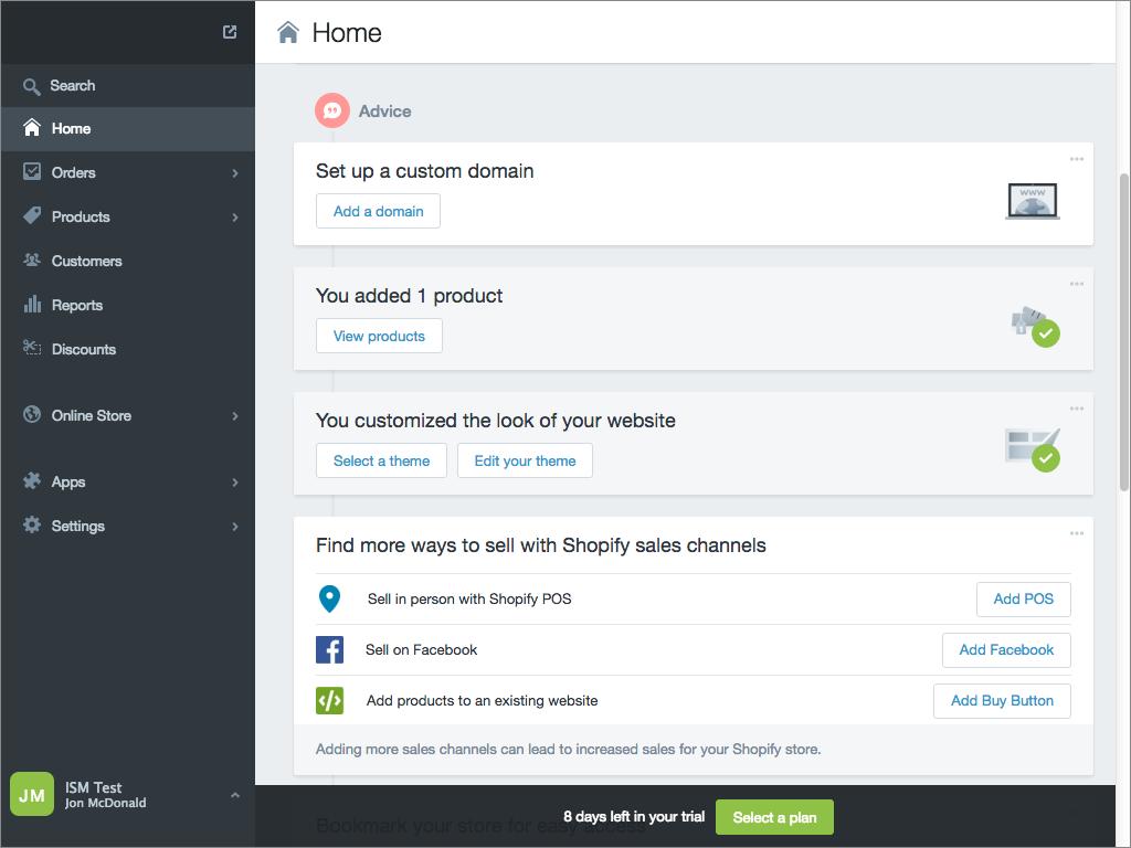 Shopify E-Commerce Platform Admin