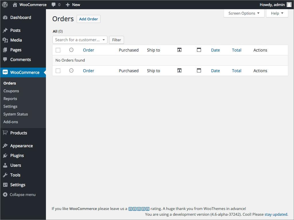 WooCommerce E-Commerce Platform Admin
